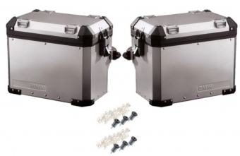 BMW Motorcycle Pannier Set Aluminum R1200GS Adventure with code-able cylinders