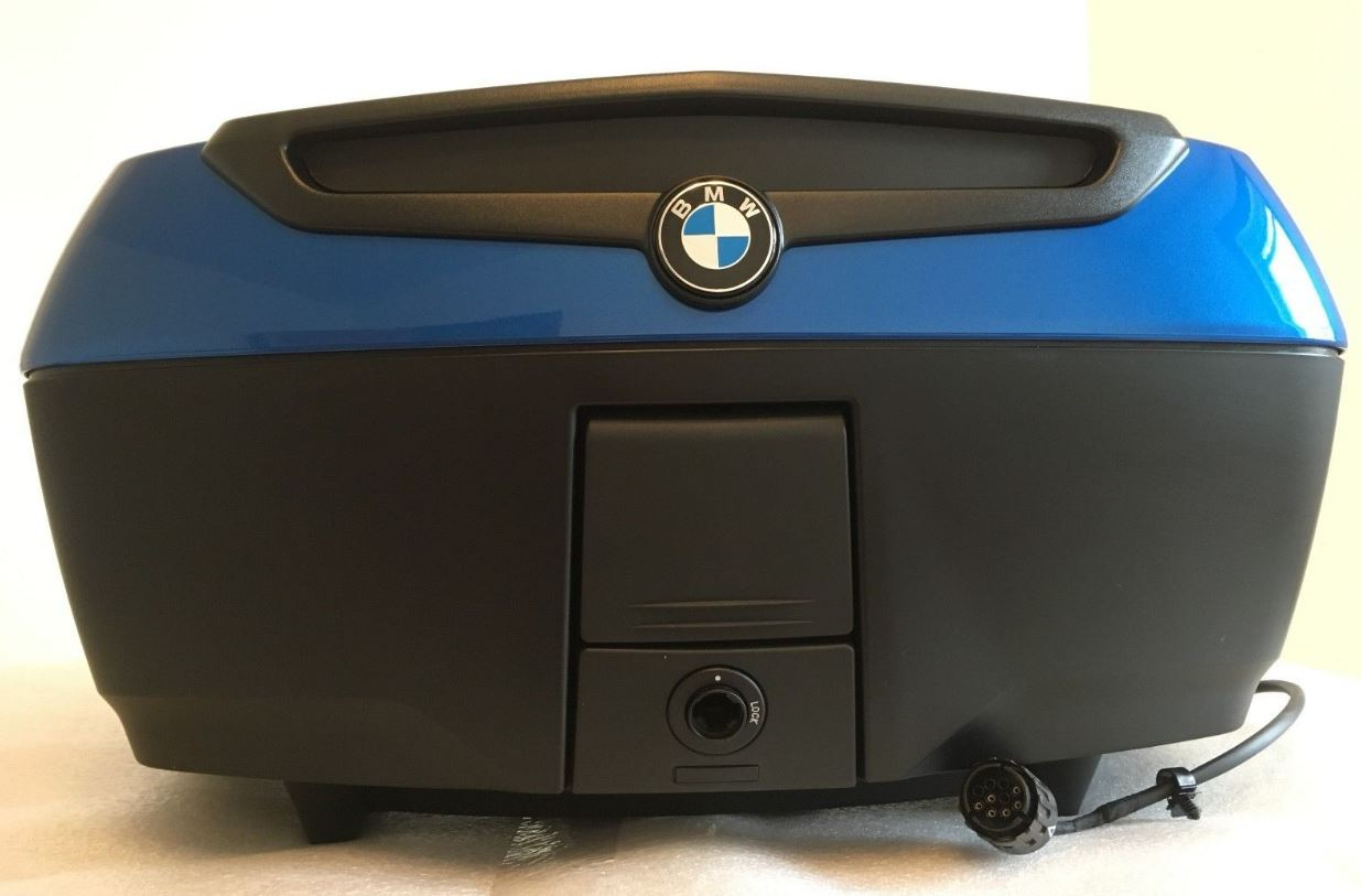Bmw Fully Featured Top Case In Montego Blue K1600gt K1600gtl R1200rt R1250rt