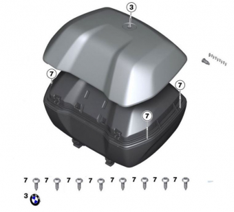 BMW top case set for R1200GS (2013-2018) and S1000XR (2015-2016)