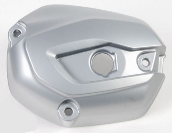 Cylinder head cover in aluminum silver, right