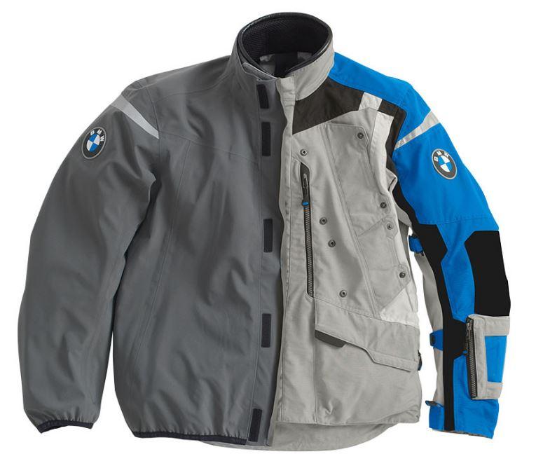 Bmw Rallye 2018 Motorcycle Jacket For Men Grey Blue